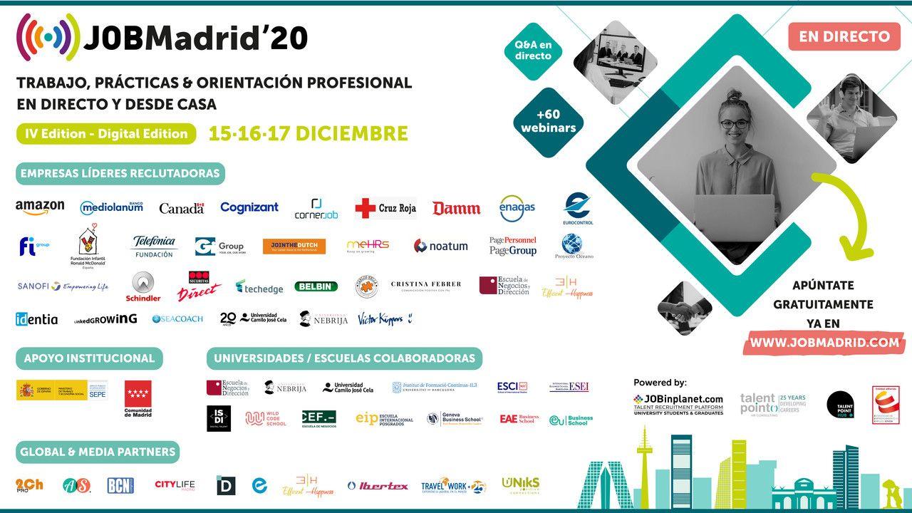 JOBMadrid'20 – IV Congreso Internacional de empleo y orientación profesional