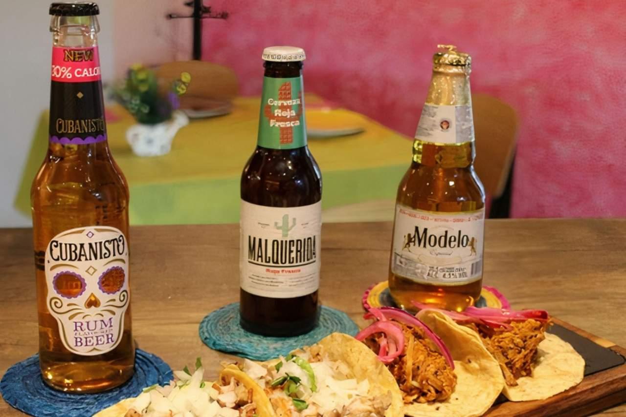 La variedad de cervezas de La Llorona incluye la Malquerida cerveza, cerveza Pacífico y Cubansito cerveza